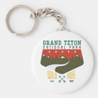 Grand Teton National Park Wyoming Basic Round Button Keychain