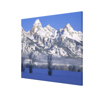 GRAND TETON NATIONAL PARK, WYOMING. USA. Fog & Canvas Print