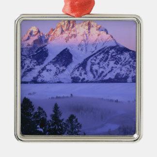GRAND TETON NATIONAL PARK, WYOMING. USA. Fog & Metal Ornament