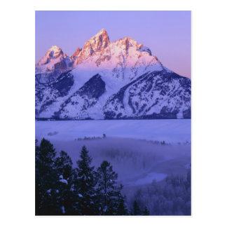 GRAND TETON NATIONAL PARK, WYOMING. USA. Fog & Postcard