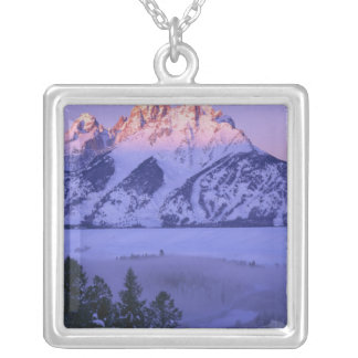 GRAND TETON NATIONAL PARK, WYOMING. USA. Fog & Silver Plated Necklace