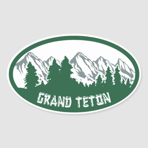 Canapé En Soldes Chez Fly : Grand Teton Natl Park Panorama Oval Sticker  Zazzle