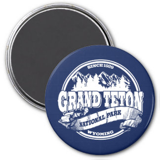 Grand Teton Old Circle Blue Magnet
