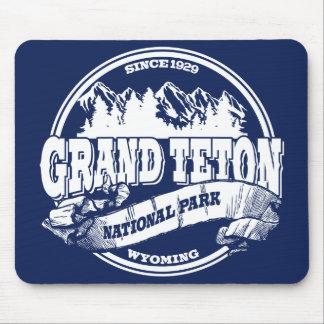Grand Teton Old Circle Blue Mouse Pad