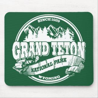 Grand Teton Old Circle Green Mouse Pad