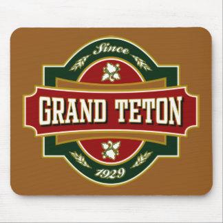 Grand Teton Old Label Mouse Pad