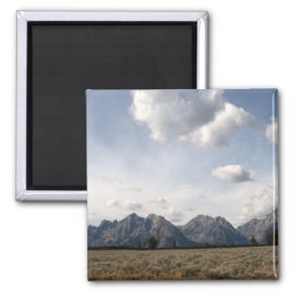 Grand Teton Range 2 Inch Square Magnet