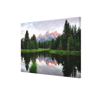 Grand Teton Reflections Over the Beaver Pond Canvas Print