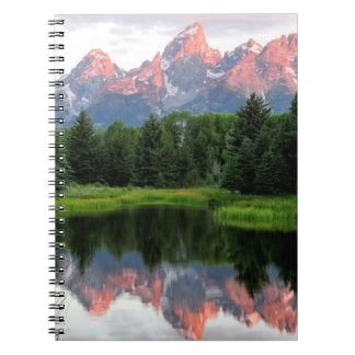 Grand Teton Reflections Over the Beaver Pond Notebook