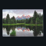 "Grand Teton Reflections Over the Beaver Pond Placemat<br><div class=""desc"">Sunrise. Grand Teton reflections over the beaver pond</div>"