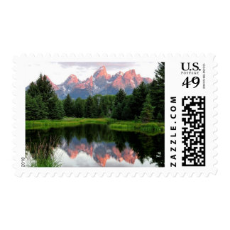 Grand Teton Reflections Over the Beaver Pond Postage