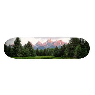 Grand Teton Reflections Over the Beaver Pond Skateboard
