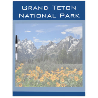 Grand Teton Springtime Souvenir Photo Dry-Erase Board