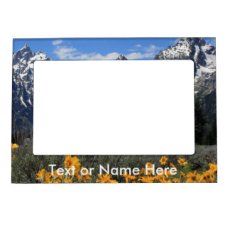 Grand Teton Springtime Souvenir Photo Magnetic Picture Frame