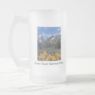 Grand Teton Springtime Souvenir Photo Glass Beer Mug