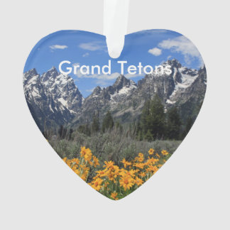 Grand Teton Springtime Souvenir Photo Ornament
