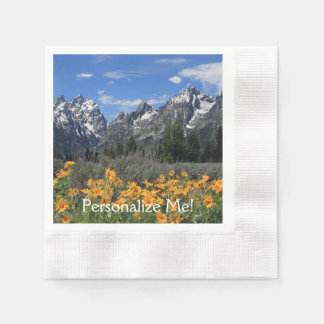 Grand Teton Springtime Souvenir Photo Paper Napkin
