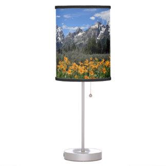 Grand Teton Springtime Souvenir Photo Table Lamp