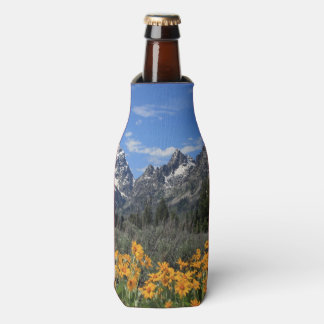 Grand Teton Springtime Souvenir Photo Bottle Cooler