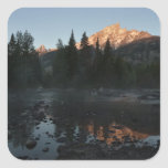 Grand Teton Sunrise at Cottonwood Creek Square Sticker