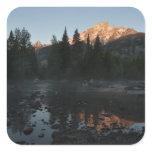 Grand Teton Sunrise at Cottonwood Creek Square Sticker