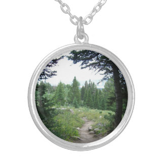 Grand Teton Trail Silver Plated Necklace