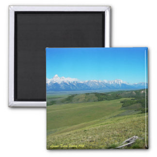 Grand Teton Valley, WY 2 Inch Square Magnet