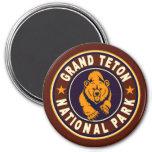 Grand Teton Vintage Circle Refrigerator Magnets