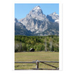 grand teton with fence post cards