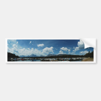 Grand Tetons and Canoes Bumper Sticker