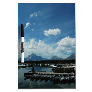 Grand Tetons and Canoes Dry-Erase Boards