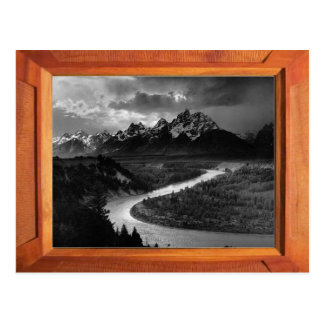 Grand Tetons black and white Postcard