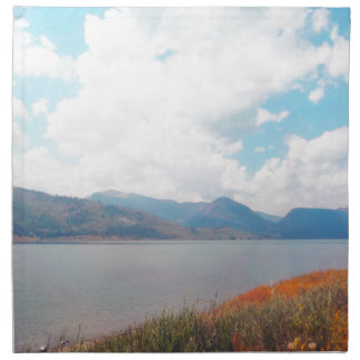 Grand Tetons By The Water Cloth Napkin