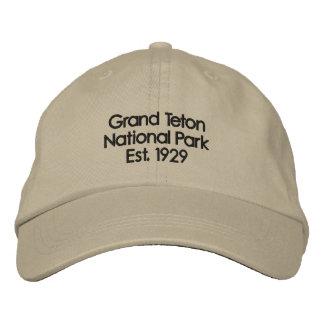 Grand Tetons Hat Embroidered Baseball Caps