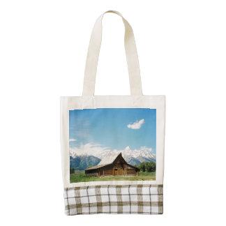 Grand Tetons Mormon Barn Zazzle HEART Tote Bag