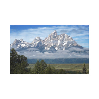 Grand Tetons Mountain Range Canvas Print