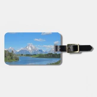 Grand Tetons Mountain View  Luggage Tags