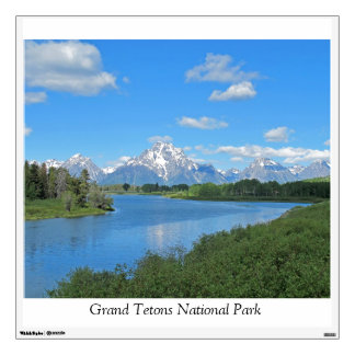 Grand Tetons Mountains Landscape Wall Decal