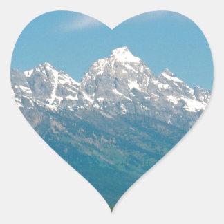 Grand Tetons National Park Heart Sticker
