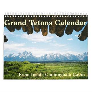 Grand Tetons of Yellowstone Calendar