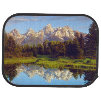 Grand Tetons reflecting in the Snake River Car Floor Mat
