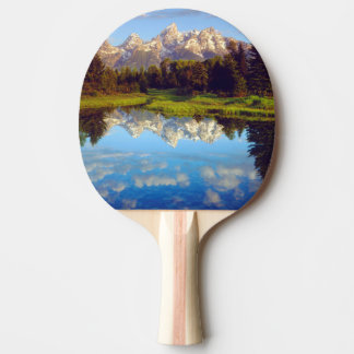 Grand Tetons reflecting in the Snake River Ping Pong Paddle