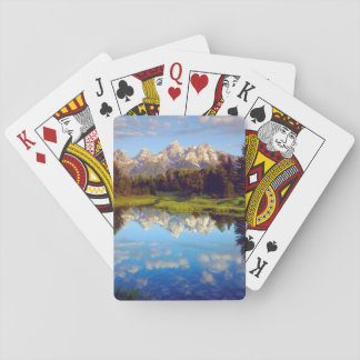 Grand Tetons reflecting in the Snake River Playing Cards
