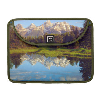Grand Tetons reflecting in the Snake River Sleeve For MacBook Pro
