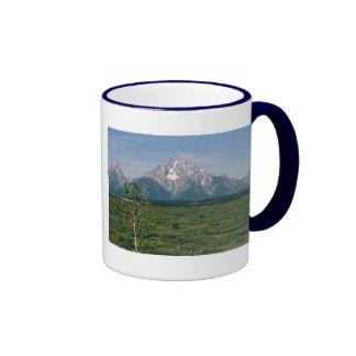 Grand Tetons Ringer Coffee Mug