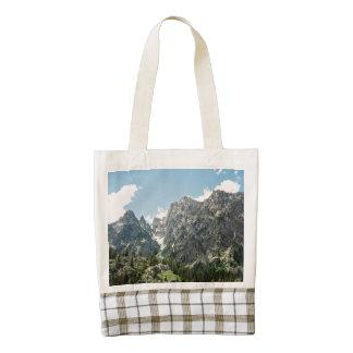 Grand Tetons Rocky Ledges Zazzle HEART Tote Bag
