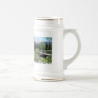 Grand Tetons Spring Snow and Wood Bridge Mugs
