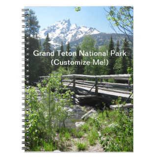 Grand Tetons Spring Snow and Wood Bridge Notebook