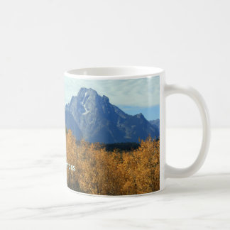 Grand Tetons With Aspens Coffee Mug