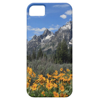 Grand Tetons with Yellow Flowers iPhone SE/5/5s Case